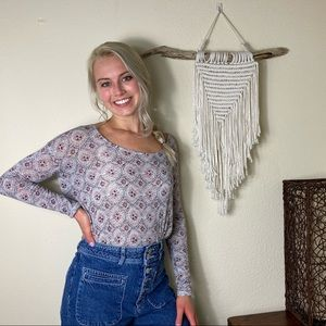 Free people backless boho peasant top Small